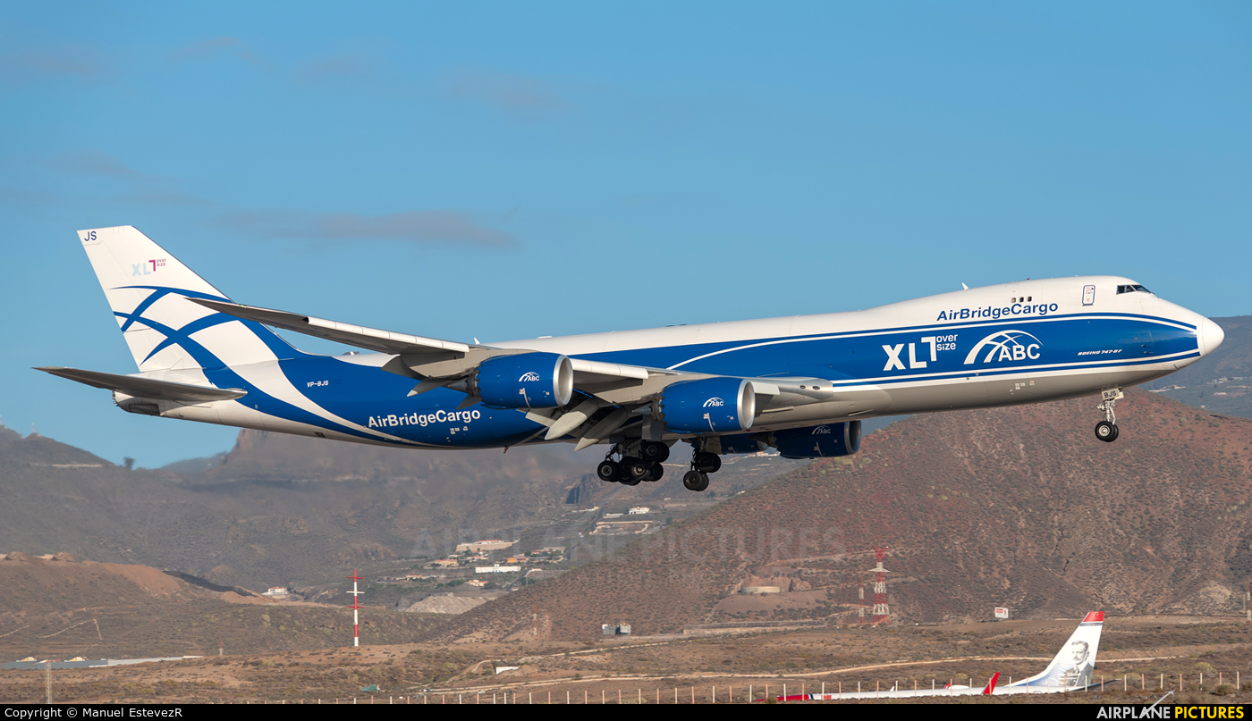 Air Bridge Cargo VP-BJS aircraft at Tenerife Sur - Reina Sofia