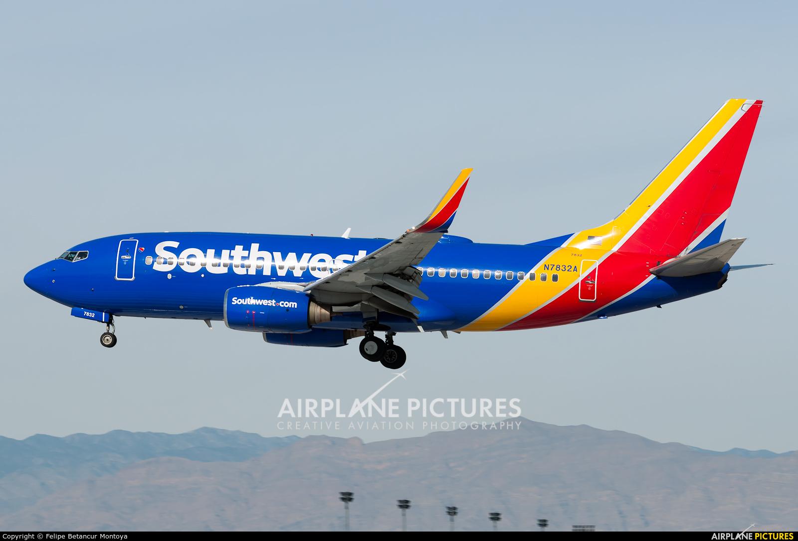Southwest Airlines N7832A aircraft at Las Vegas - McCarran Intl