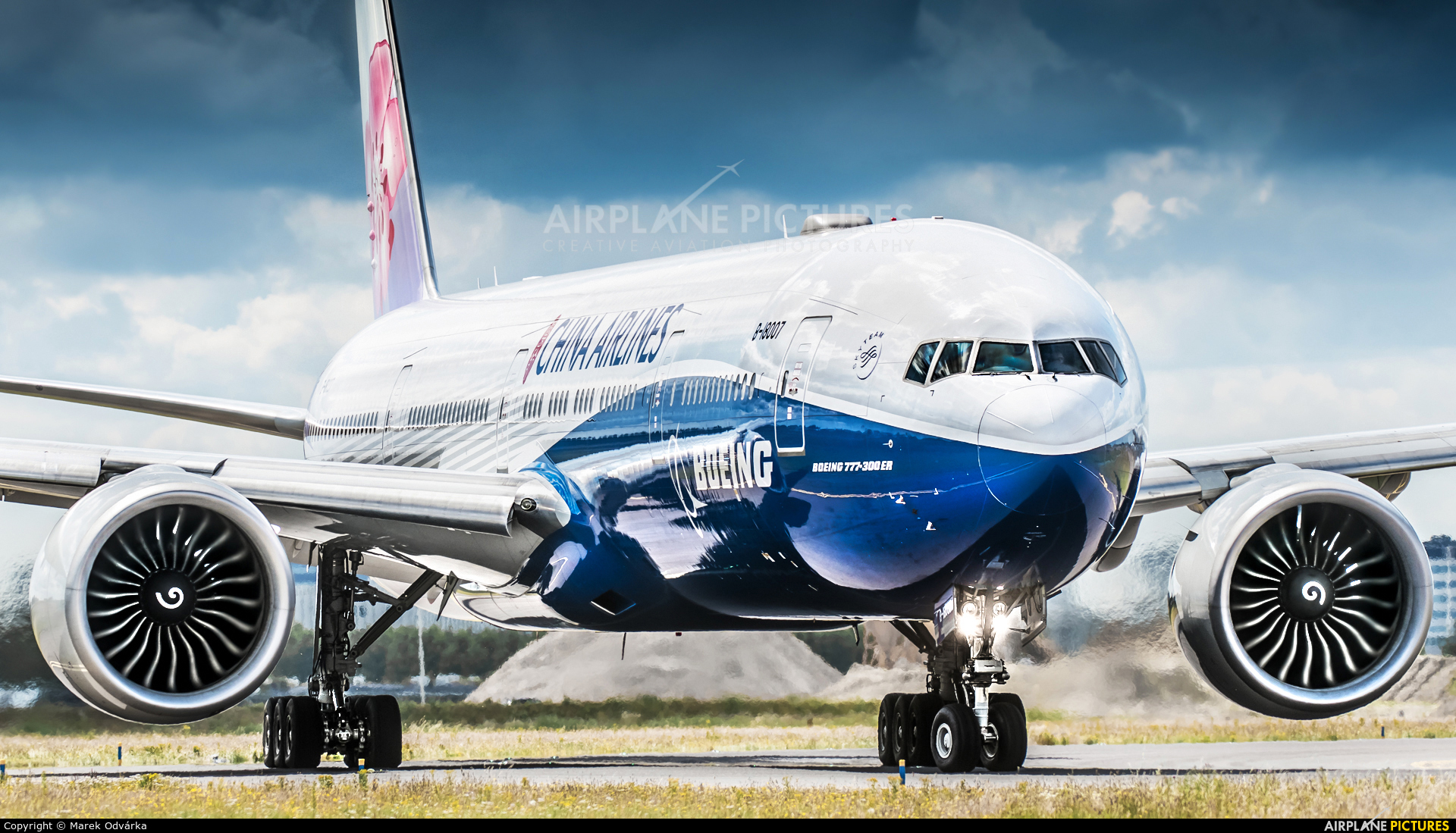 China Airlines B-18007 aircraft at Amsterdam - Schiphol