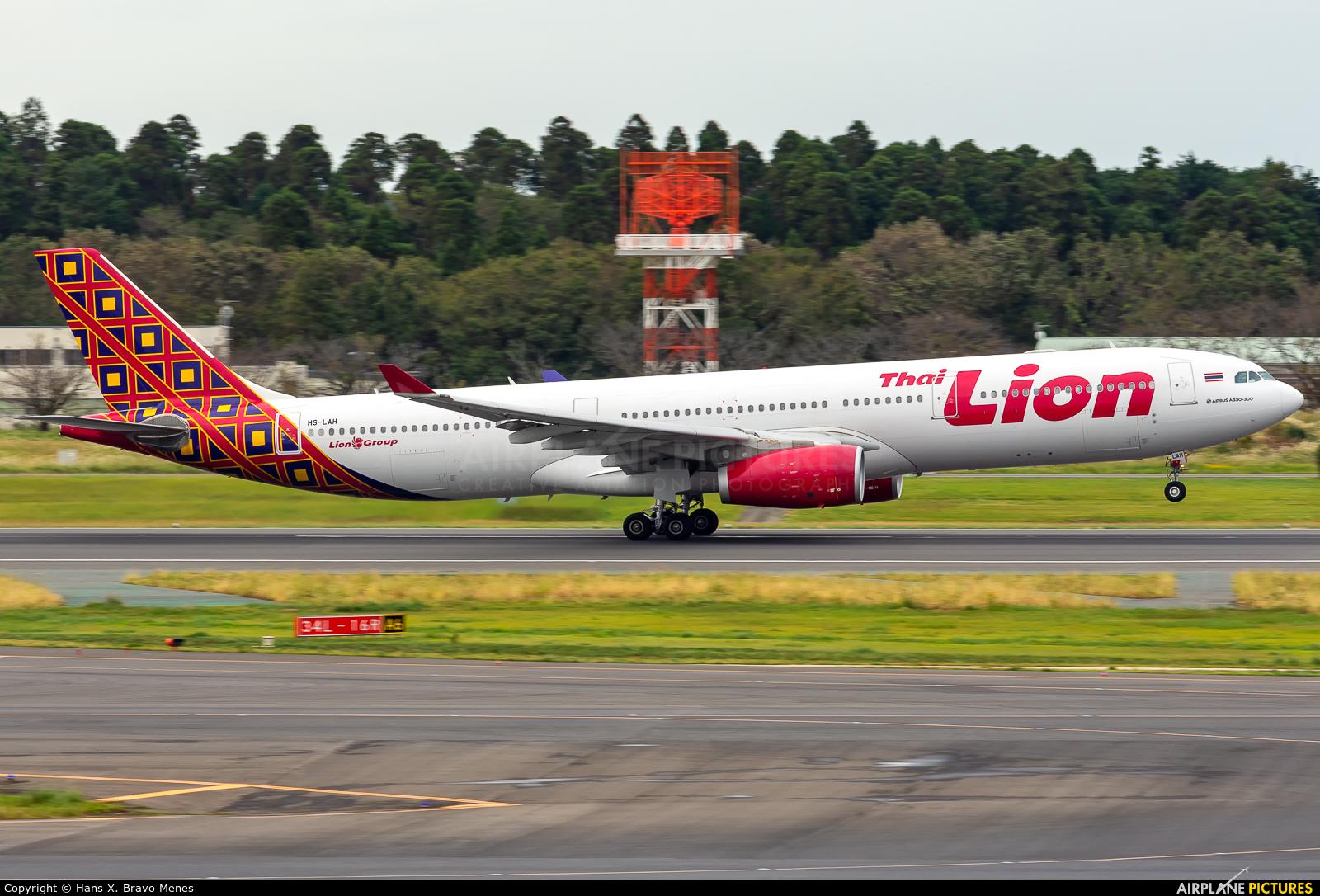 Thai Lion Air HS-LAH aircraft at Tokyo - Narita Intl
