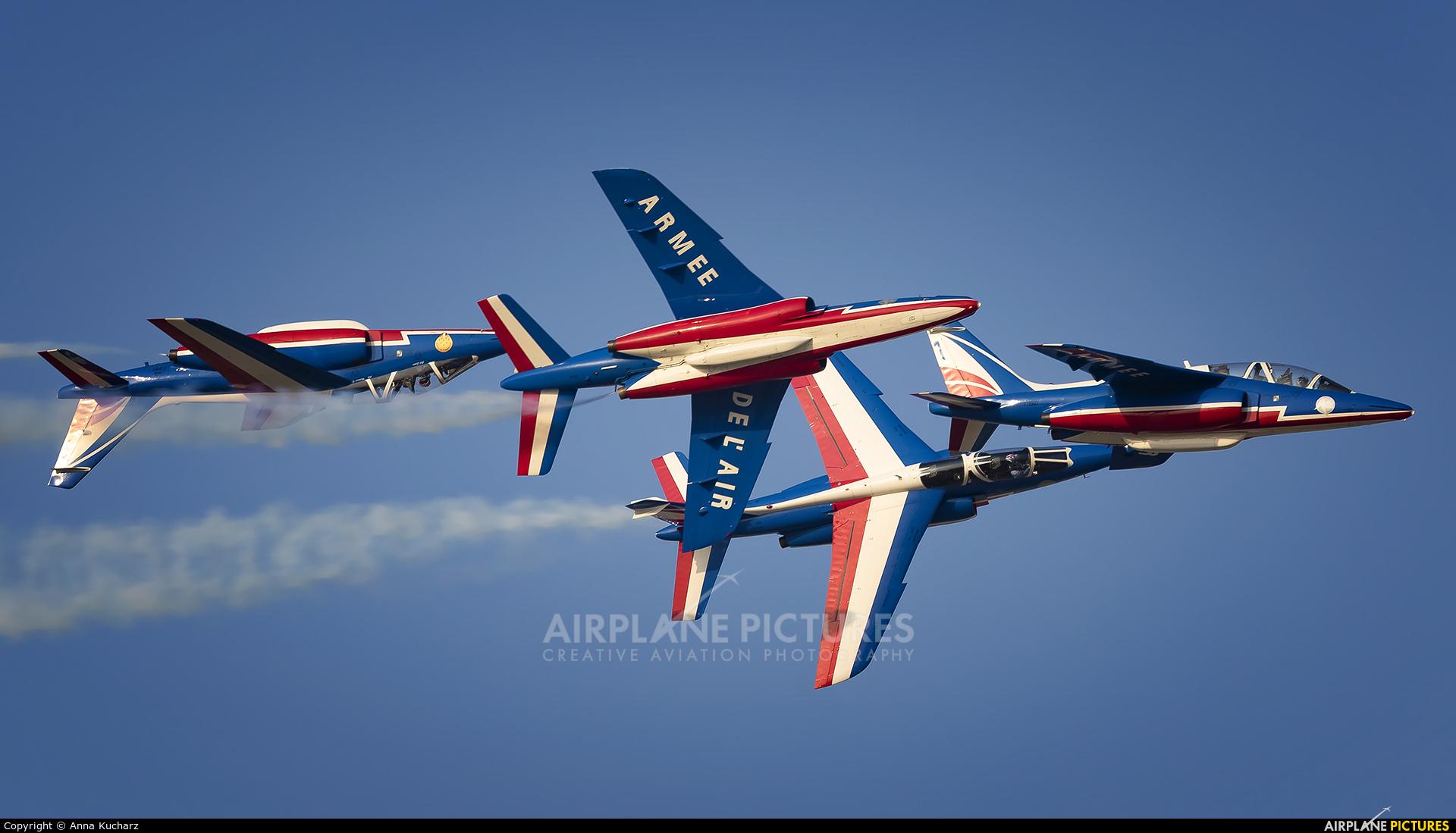 "France - Air Force ""Patrouille de France"" E44 aircraft at Jebel Ali Al Maktoum Intl"