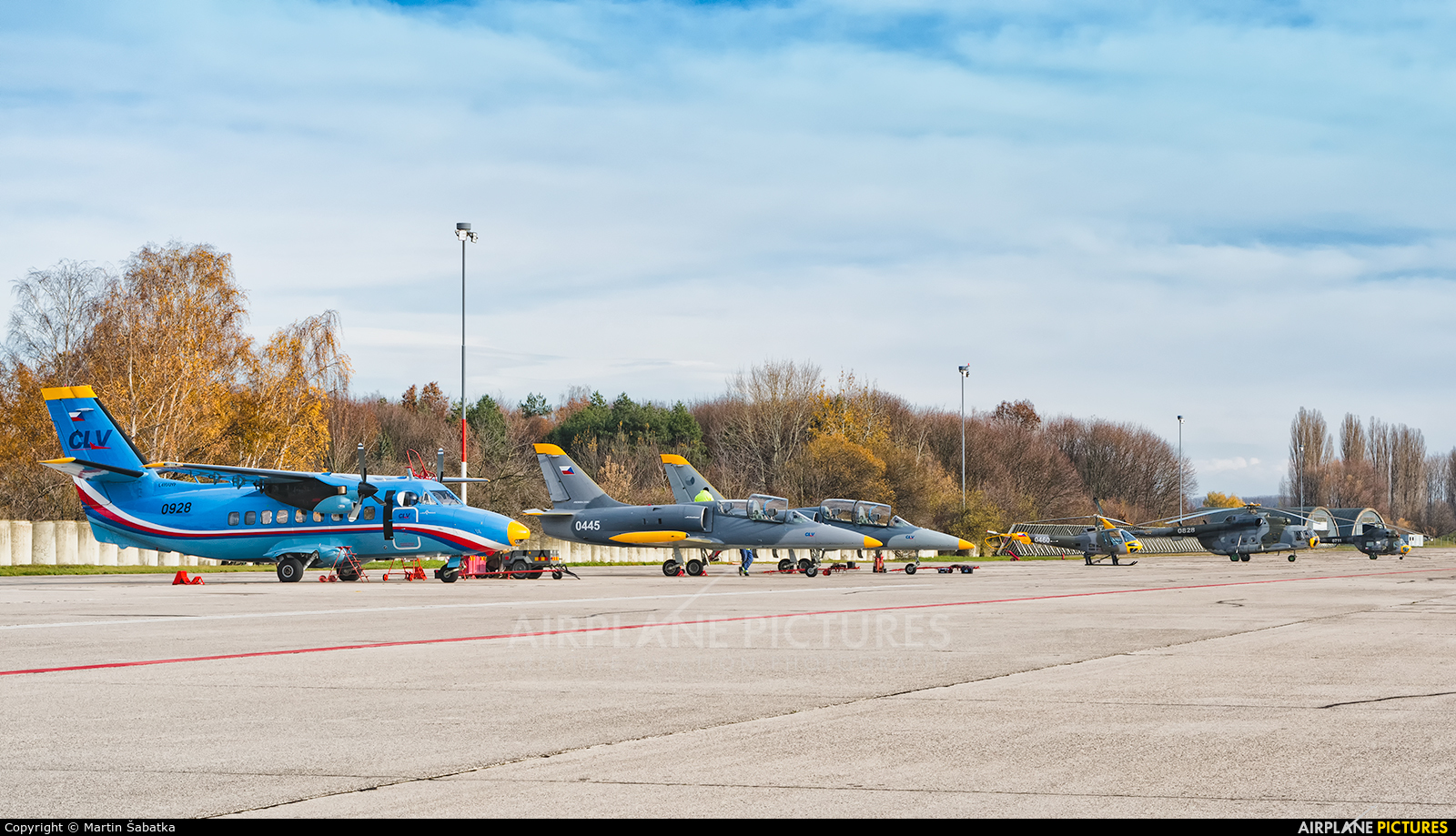 - Airport Overview - aircraft at Pardubice