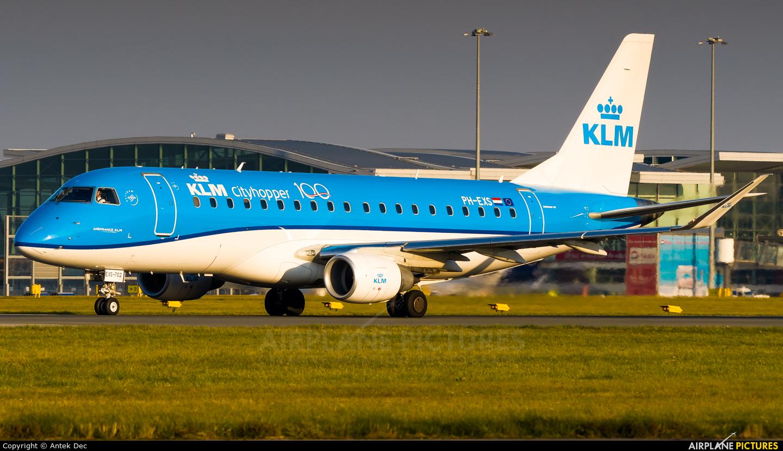 KLM Cityhopper PH-EXS aircraft at Wrocław - Copernicus