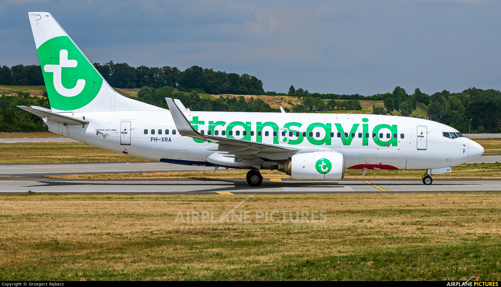Transavia PH-XRA aircraft at Kraków - John Paul II Intl