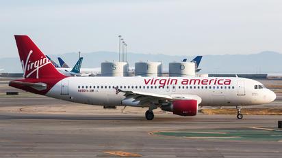 N855VA - Virgin America Airbus A320