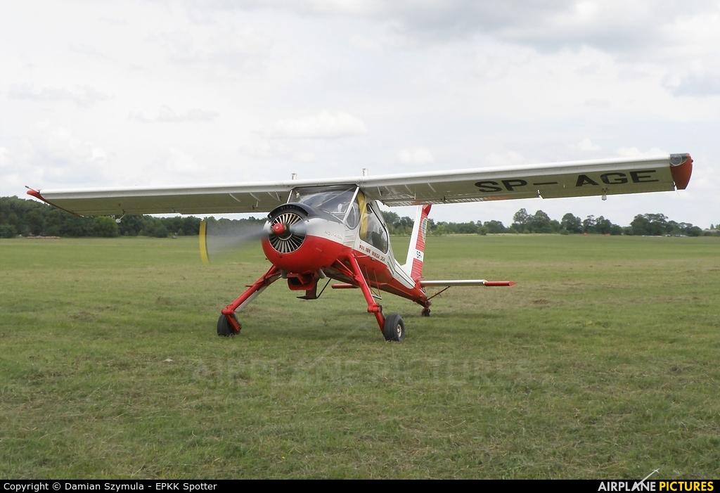 Aeroklub Ziemi Mazowieckiej SP-AGE aircraft at Płock