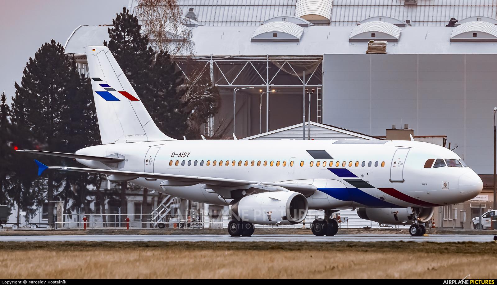 Lufthansa D-AISY aircraft at Ostrava Mošnov