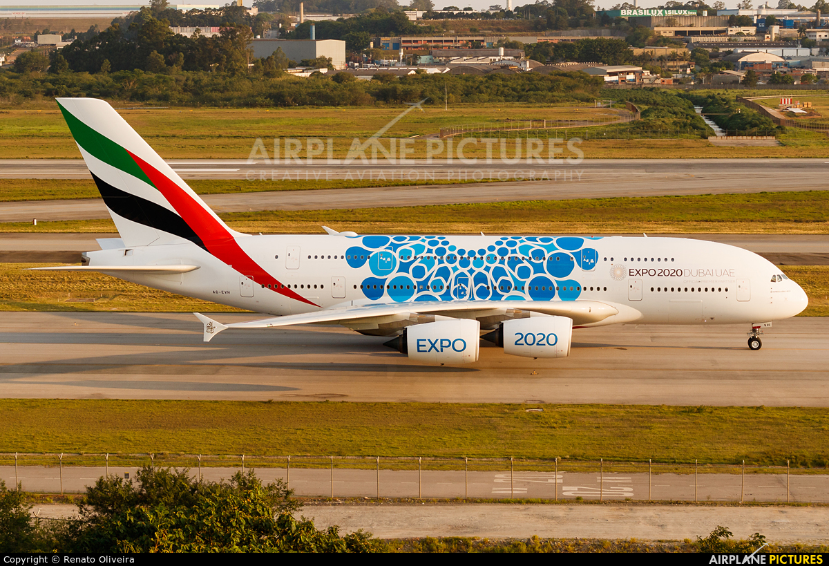 Emirates Airlines A6-EVH aircraft at São Paulo - Guarulhos