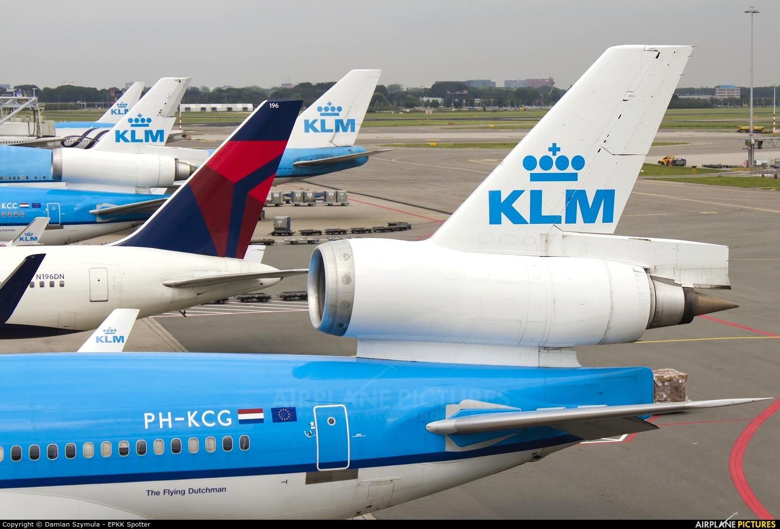 KLM PH-KCG aircraft at Amsterdam - Schiphol