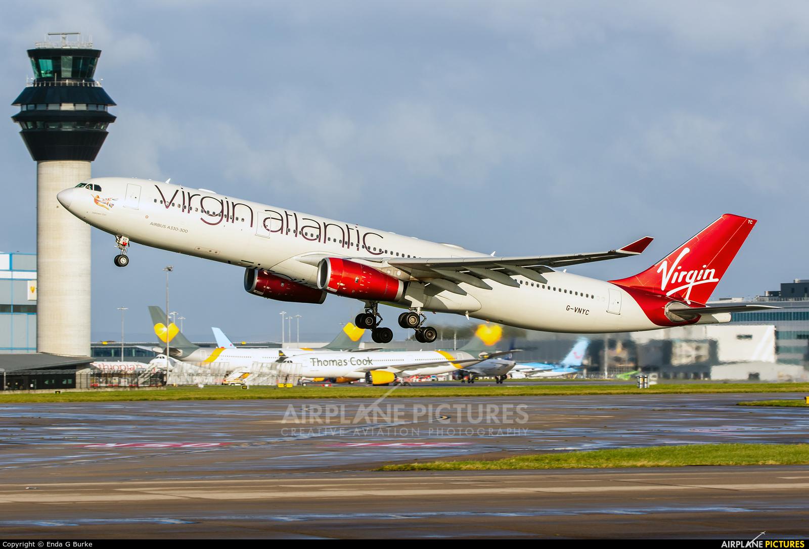 Virgin Atlantic G-VNYC aircraft at Manchester