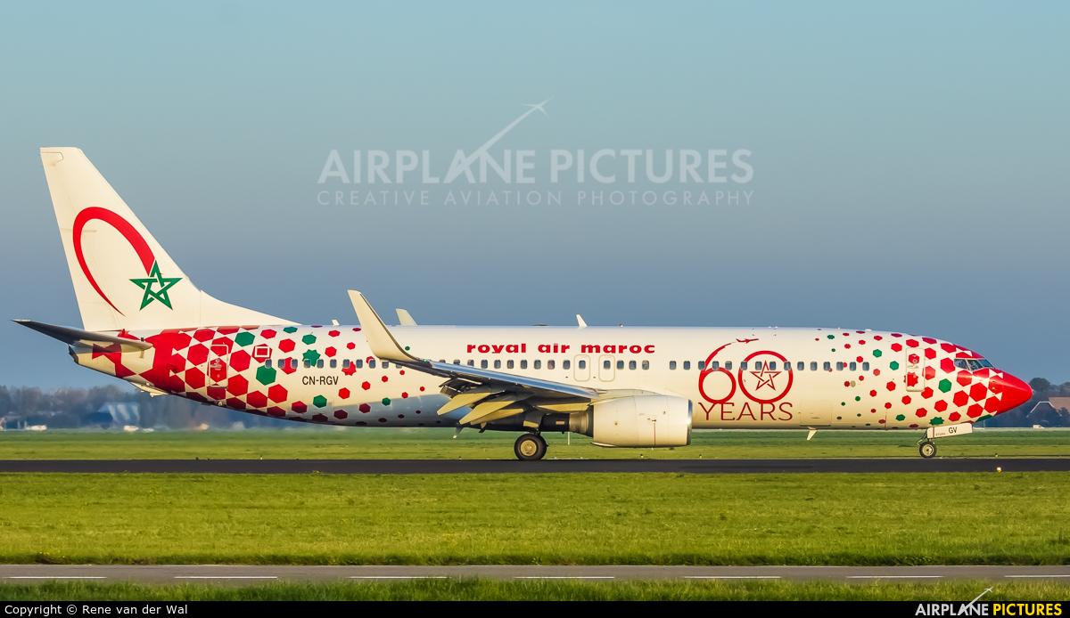 Royal Air Maroc CN-RGV aircraft at Amsterdam - Schiphol