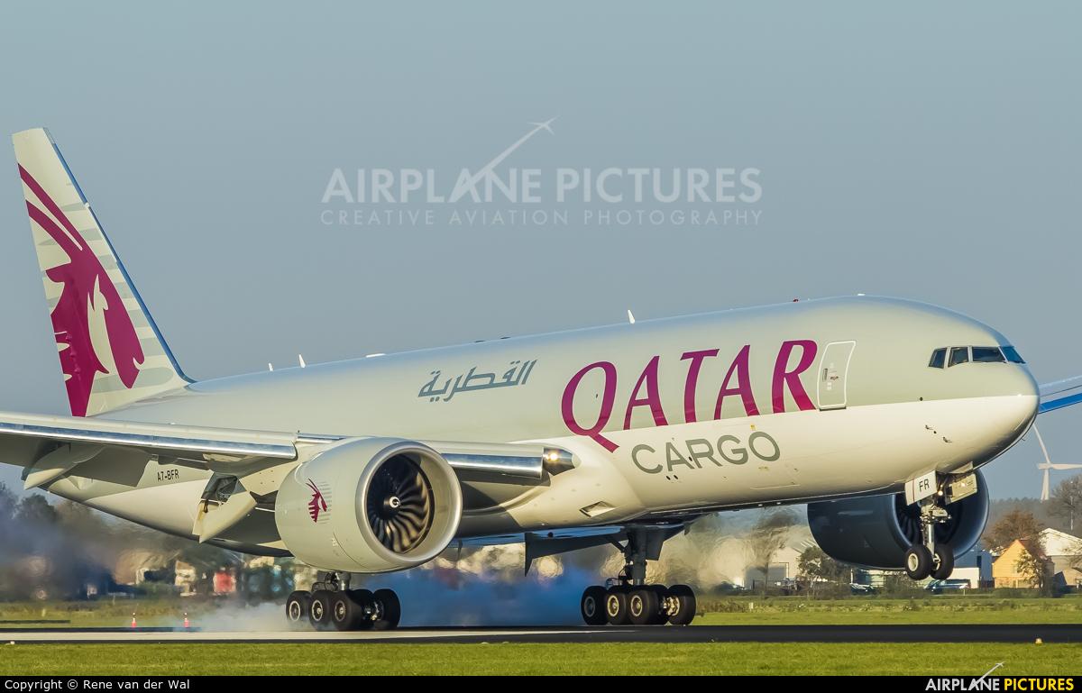 Qatar Airways Cargo A7-BFR aircraft at Amsterdam - Schiphol