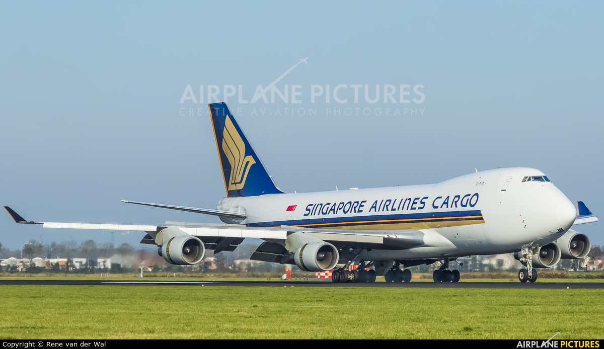Singapore Airlines Cargo 9V-SFN aircraft at Amsterdam - Schiphol