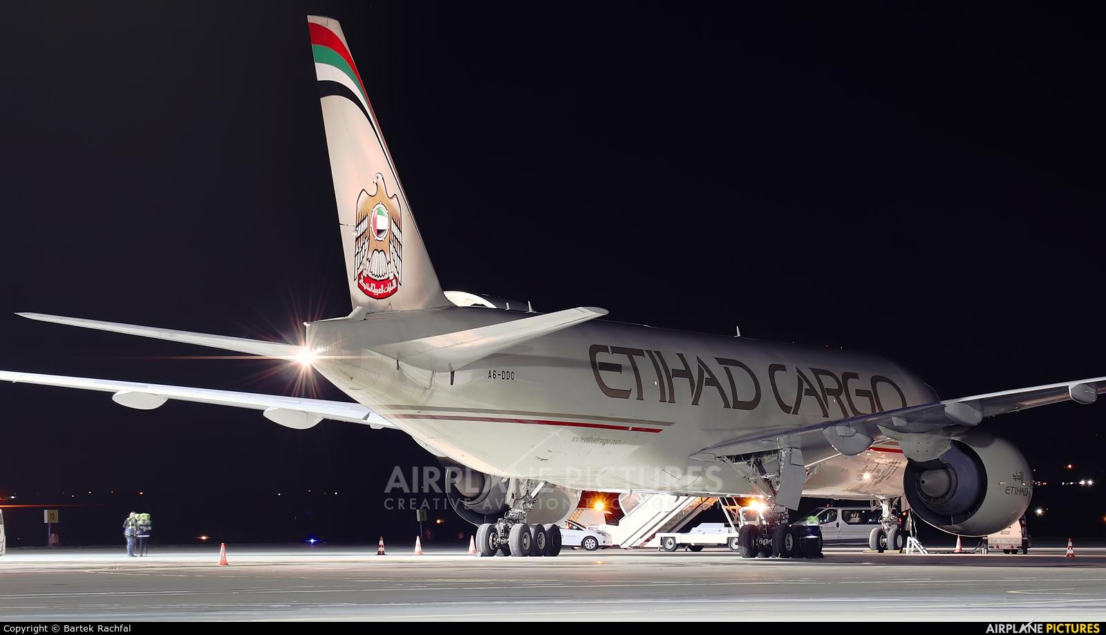 Etihad Cargo A6-DDC aircraft at Rzeszów-Jasionka