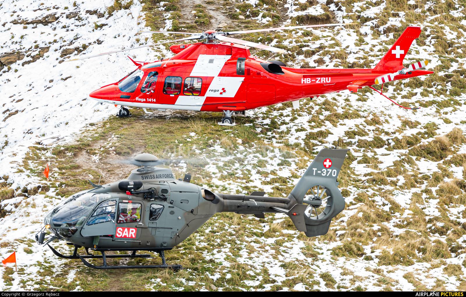 REGA Swiss Air Ambulance  HB-ZRU aircraft at Axalp - Ebenfluh Range