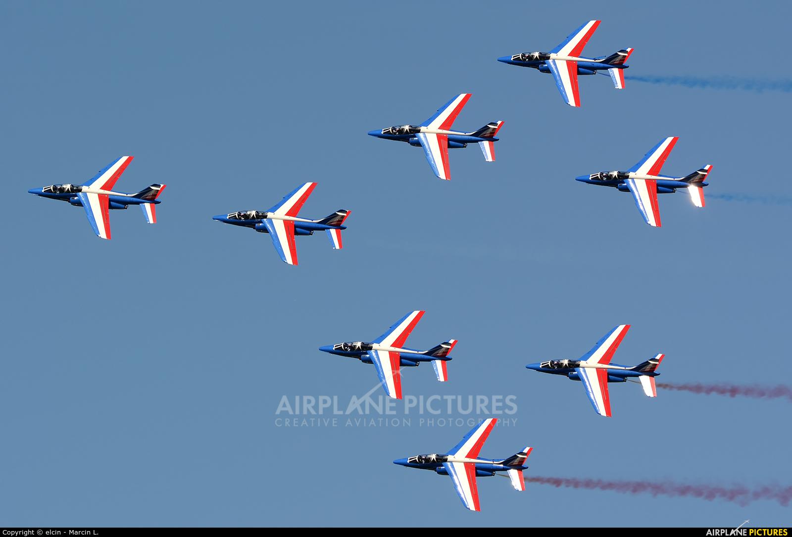 "France - Air Force ""Patrouille de France"" E113 aircraft at Ostrava Mošnov"