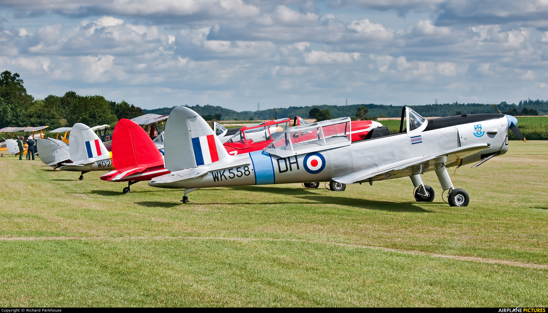 Private G-ARMG aircraft at Old Warden