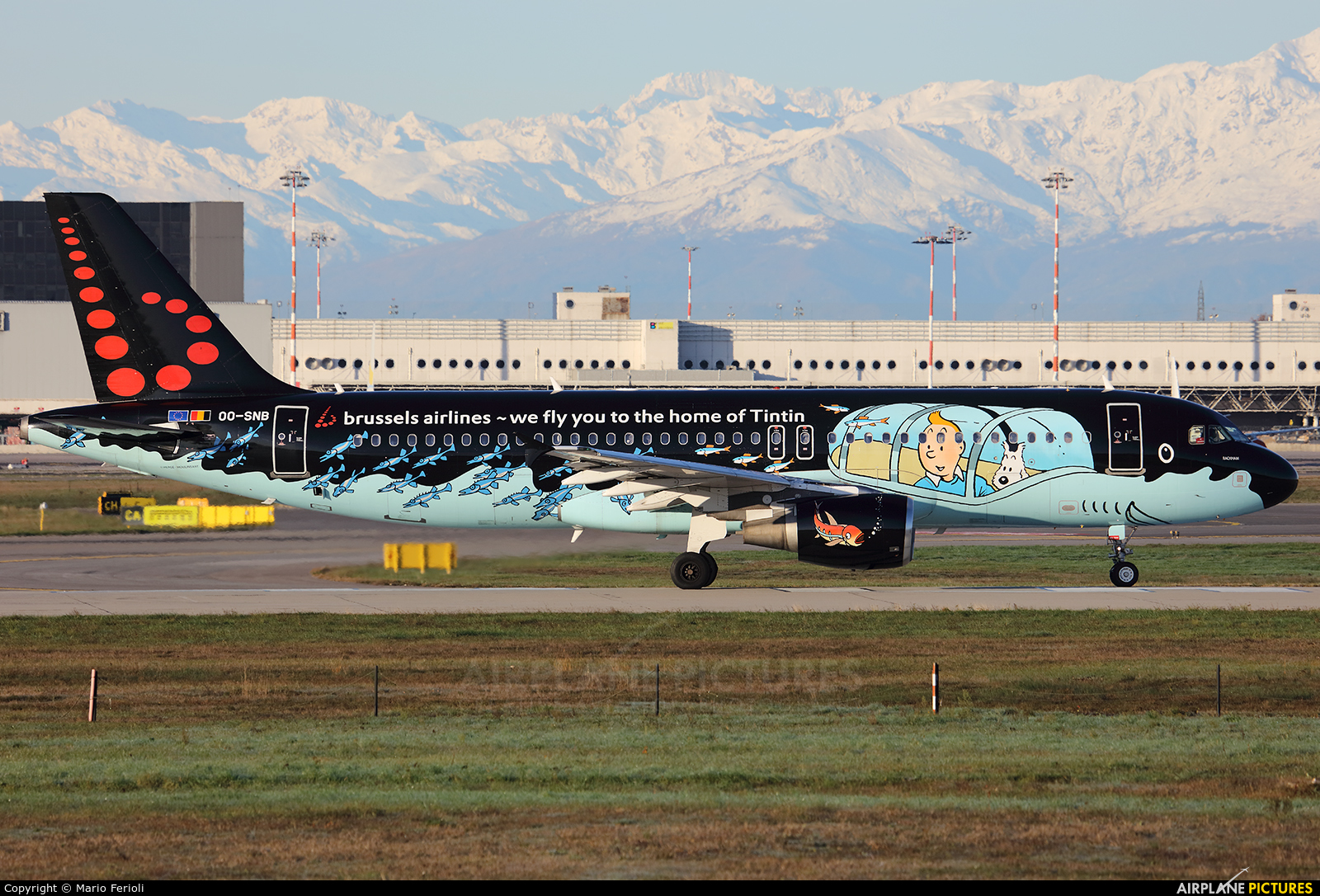 Brussels Airlines OO-SNB aircraft at Milan - Malpensa