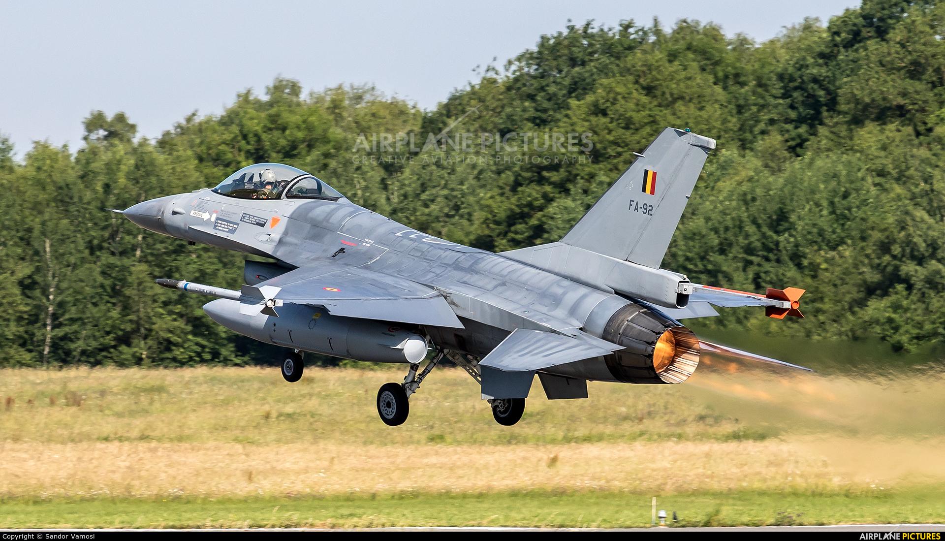 Belgium - Air Force FA-92 aircraft at Florennes
