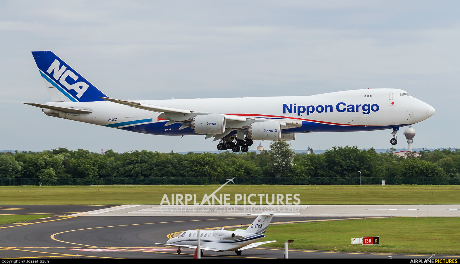 Nippon Cargo Airlines JA11KZ aircraft at Budapest Ferenc Liszt International Airport