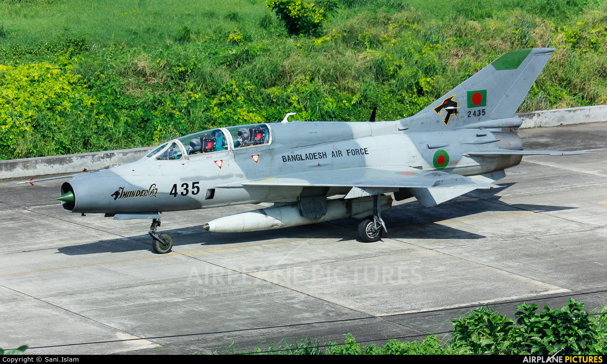 Bangladesh - Air Force 2435 aircraft at Dhaka - Hazrat Shahjala Intl