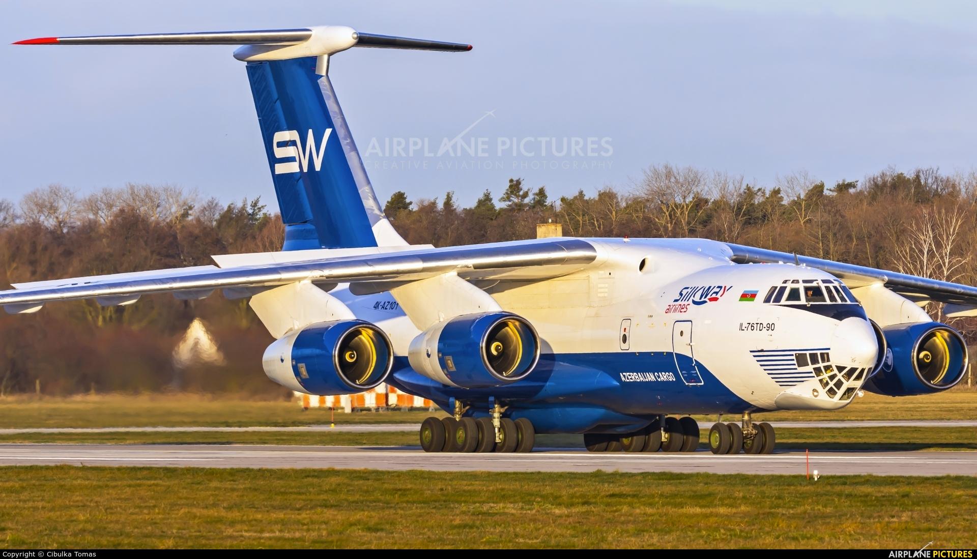 Silk Way Airlines 4K-AZ101 aircraft at Pardubice