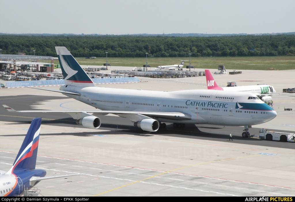 Cathay Pacific B-HKV aircraft at Frankfurt