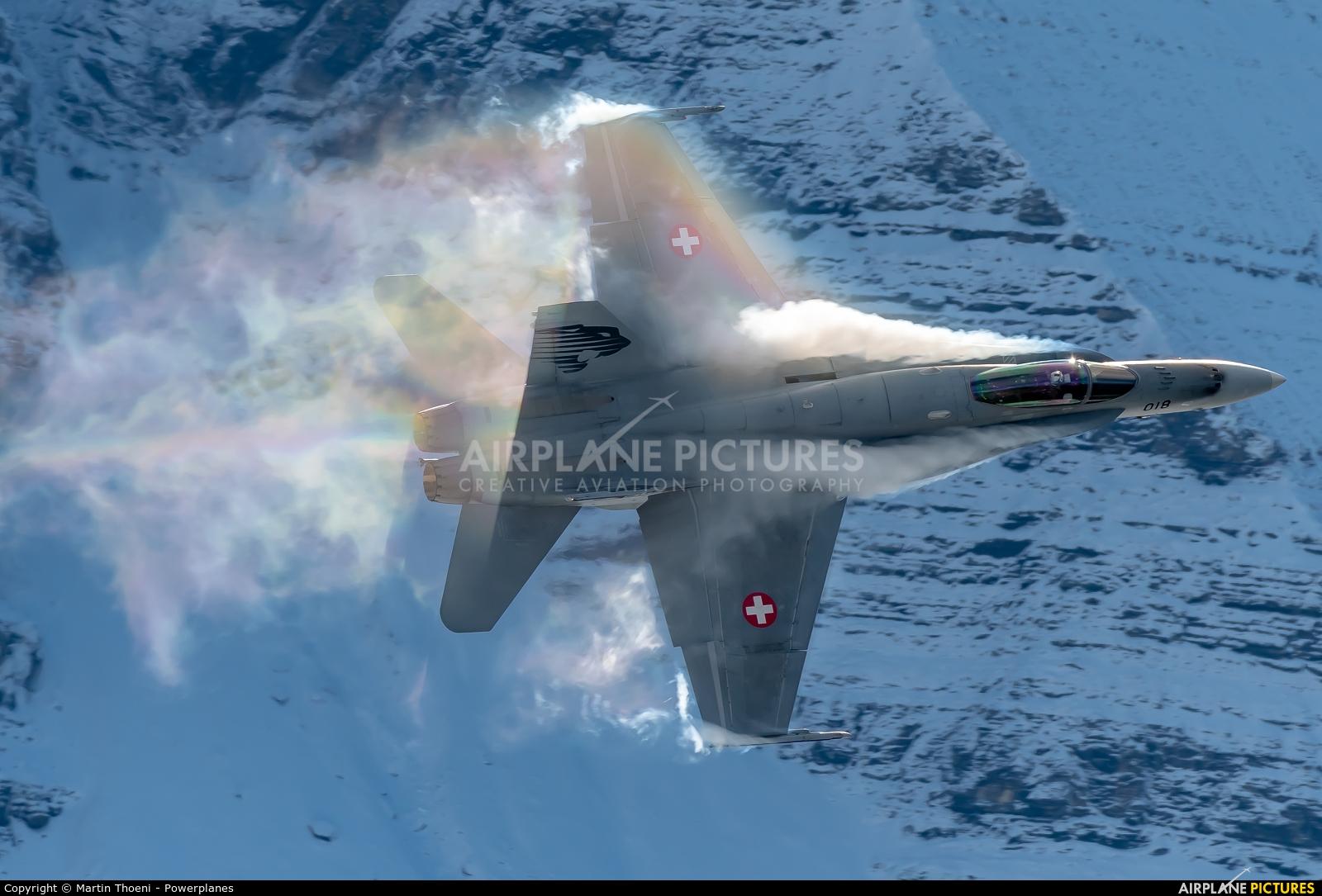 Switzerland - Air Force J-5018 aircraft at Axalp - Ebenfluh Range