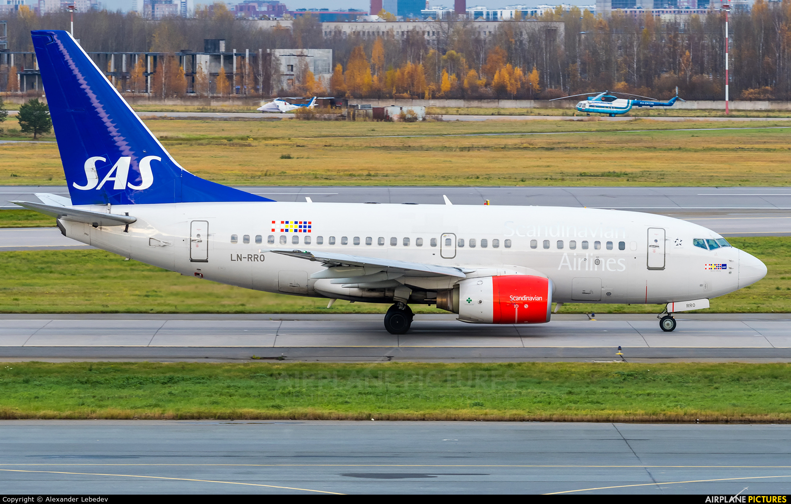 SAS - Scandinavian Airlines LN-RRO aircraft at St. Petersburg - Pulkovo