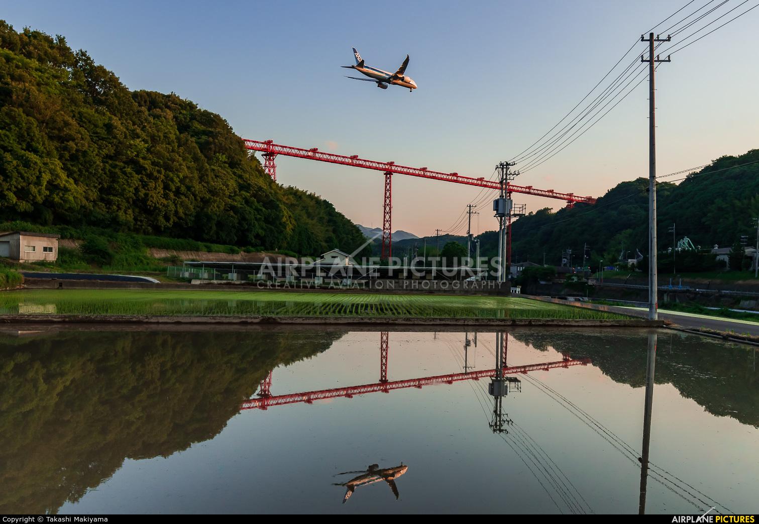 ANA - All Nippon Airways JA809A aircraft at Takamatsu