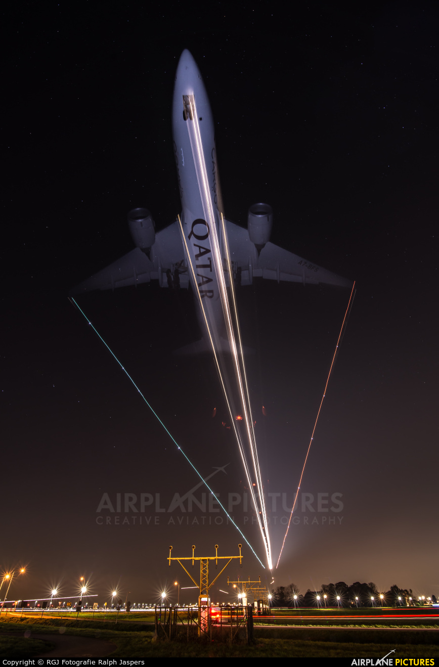 Qatar Airways Cargo A7-BFS aircraft at Amsterdam - Schiphol