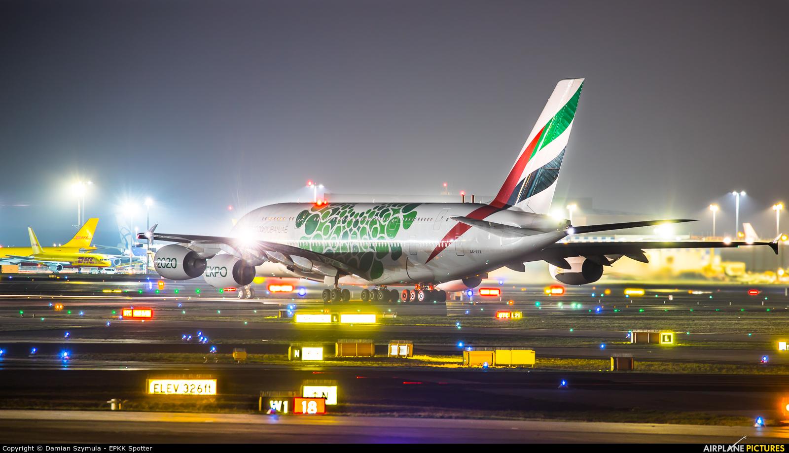 Emirates Airlines A6-EEZ aircraft at Frankfurt