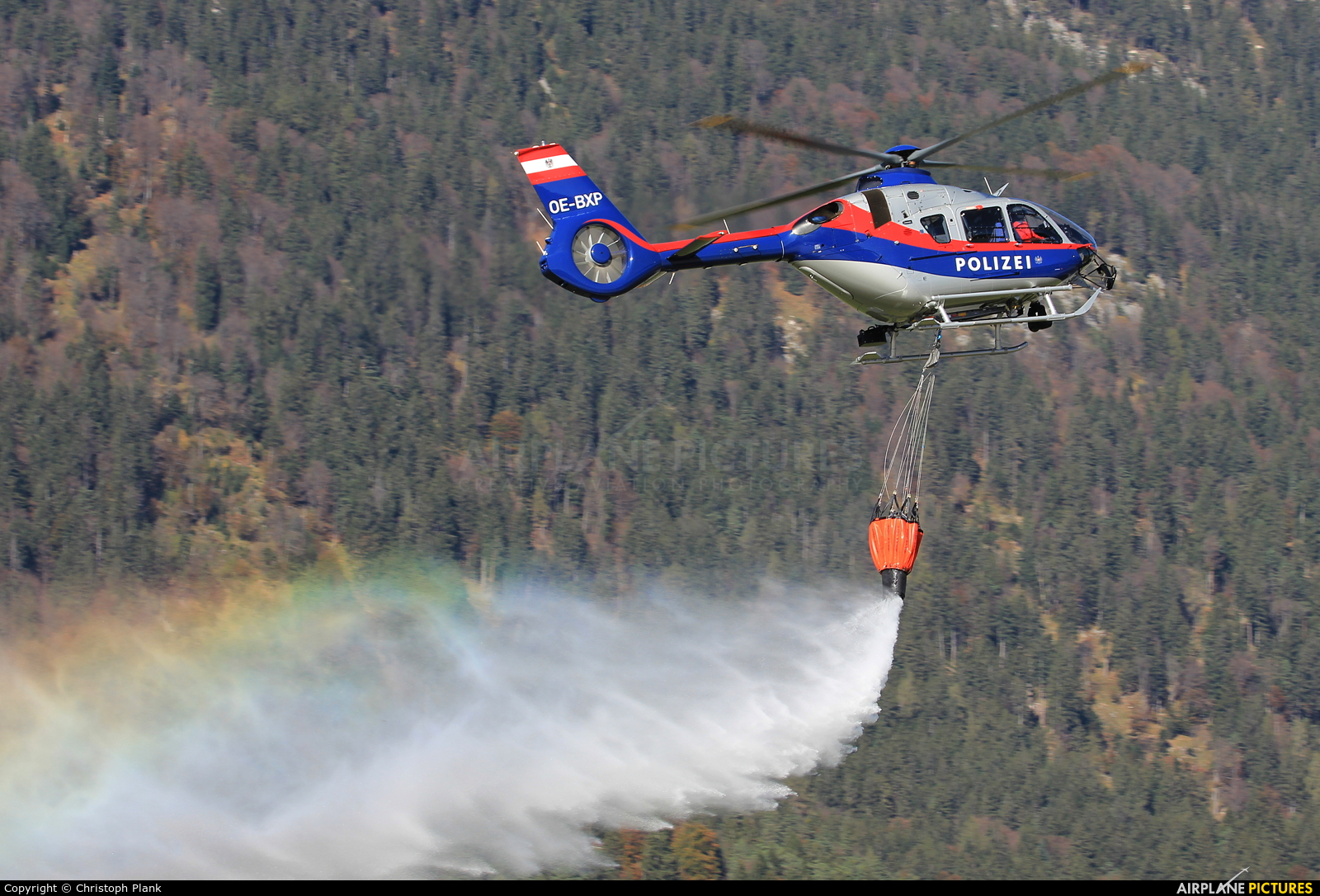 Austria - Police OE-BXP aircraft at Innsbruck