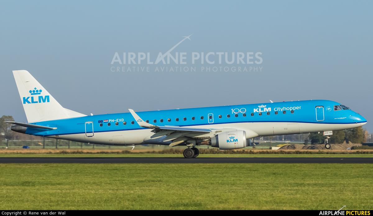 KLM Cityhopper PH-EXD aircraft at Amsterdam - Schiphol