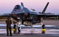 The First Royal Netherlands Air Force F-35 arrived at Leeuwarden Airbase title=