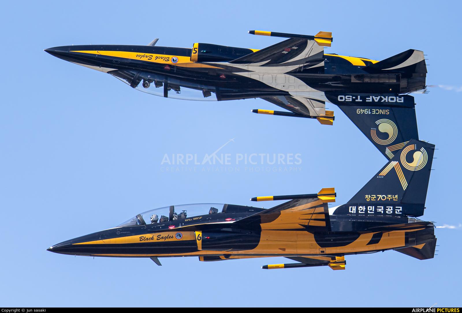 Korea (South) - Air Force: Black Eagles 10-0056 aircraft at Seongnam AB