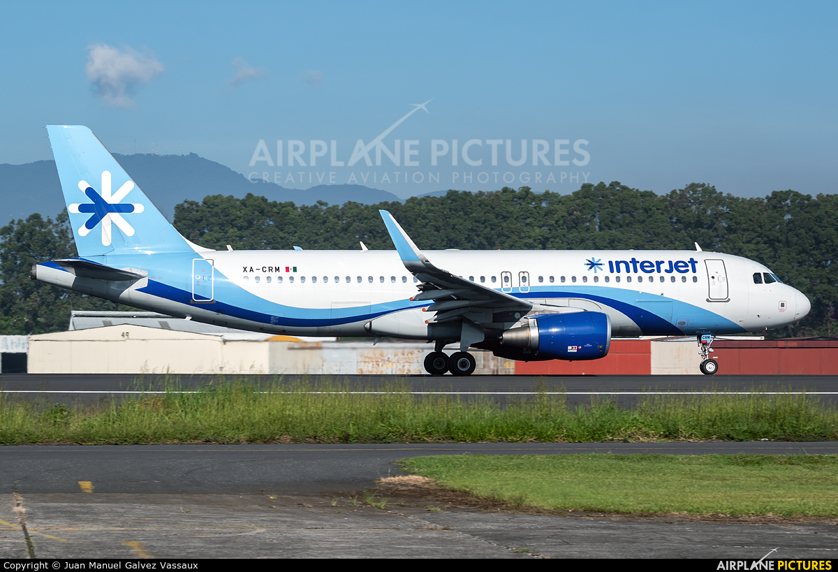 Interjet XA-CRM aircraft at Guatemala - La Aurora