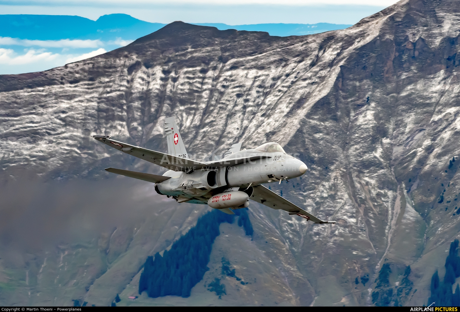 Switzerland - Air Force J-5026 aircraft at Axalp - Ebenfluh Range