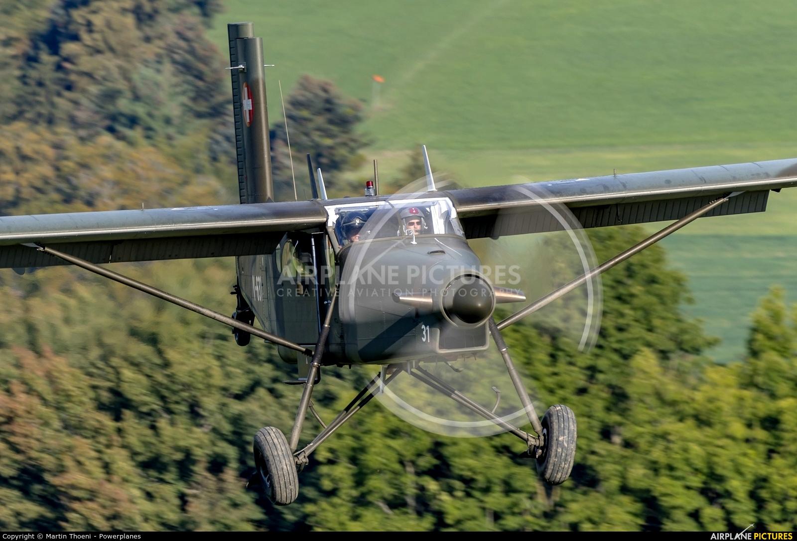 Switzerland - Air Force V-631 aircraft at Off Airport - Ebersecken