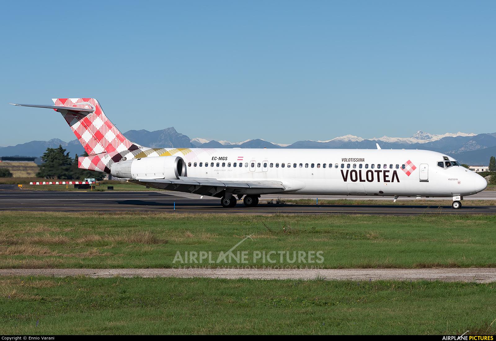 Volotea Airlines EC-MGS aircraft at Verona - Villafranca