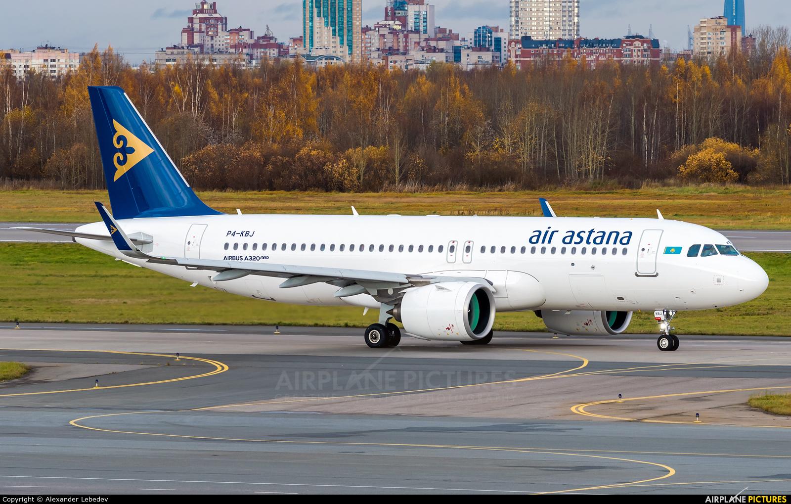 Air Astana P4-KBJ aircraft at St. Petersburg - Pulkovo