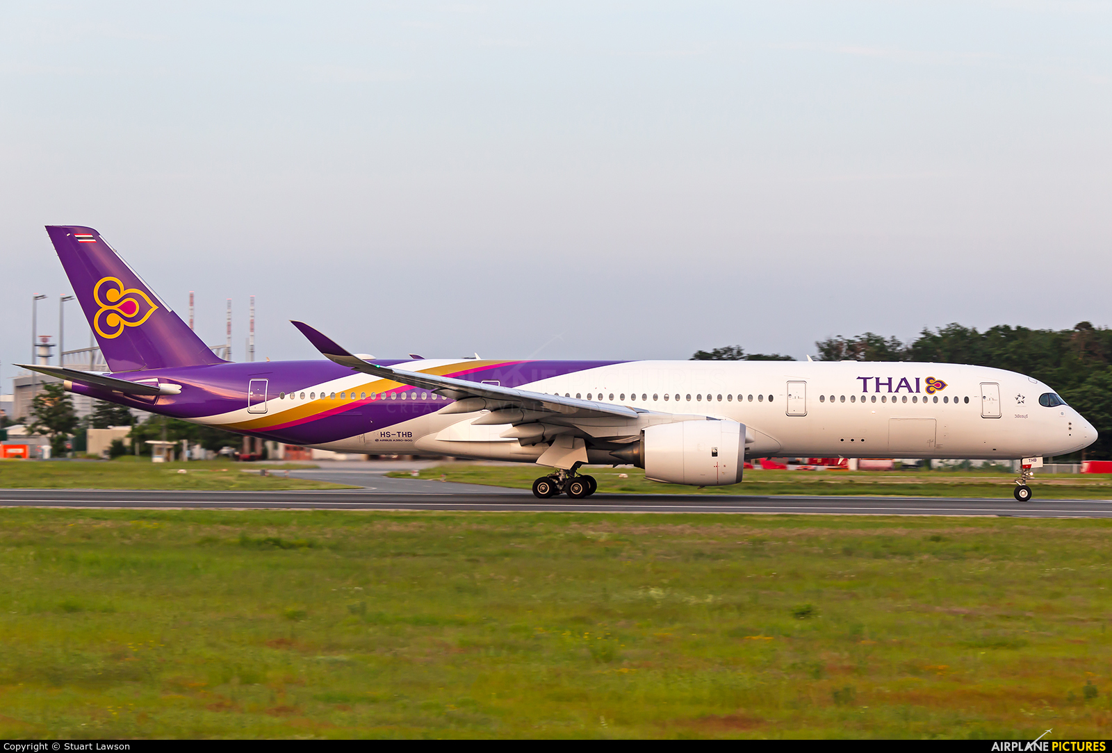 Thai Airways HS-THB aircraft at Frankfurt