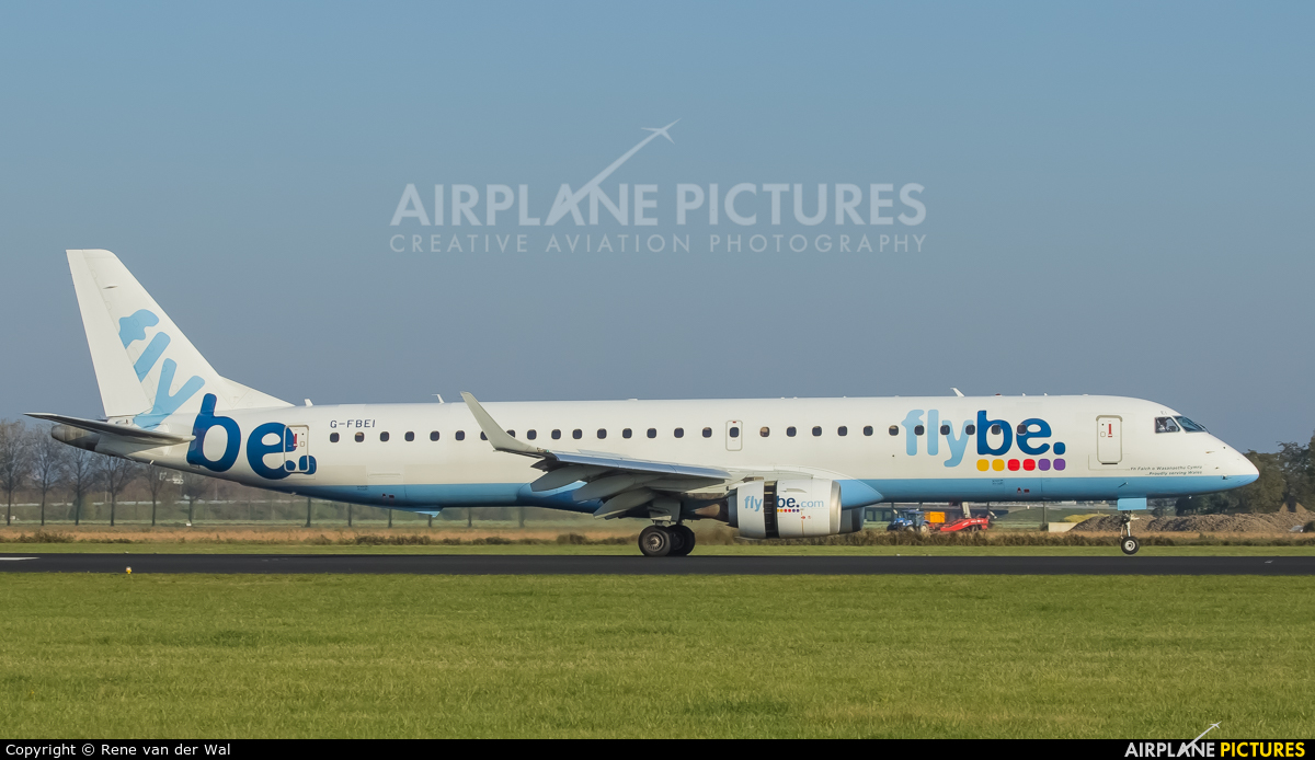 Flybe G-FBEI aircraft at Amsterdam - Schiphol