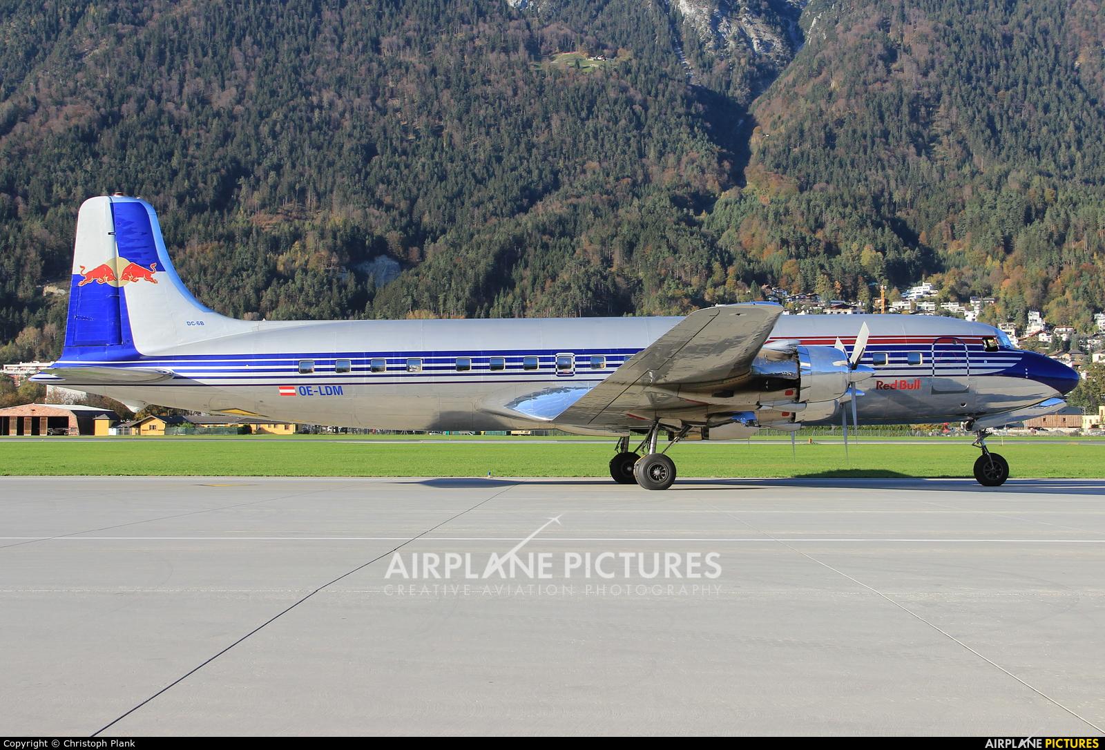 Red Bull OE-LDM aircraft at Innsbruck