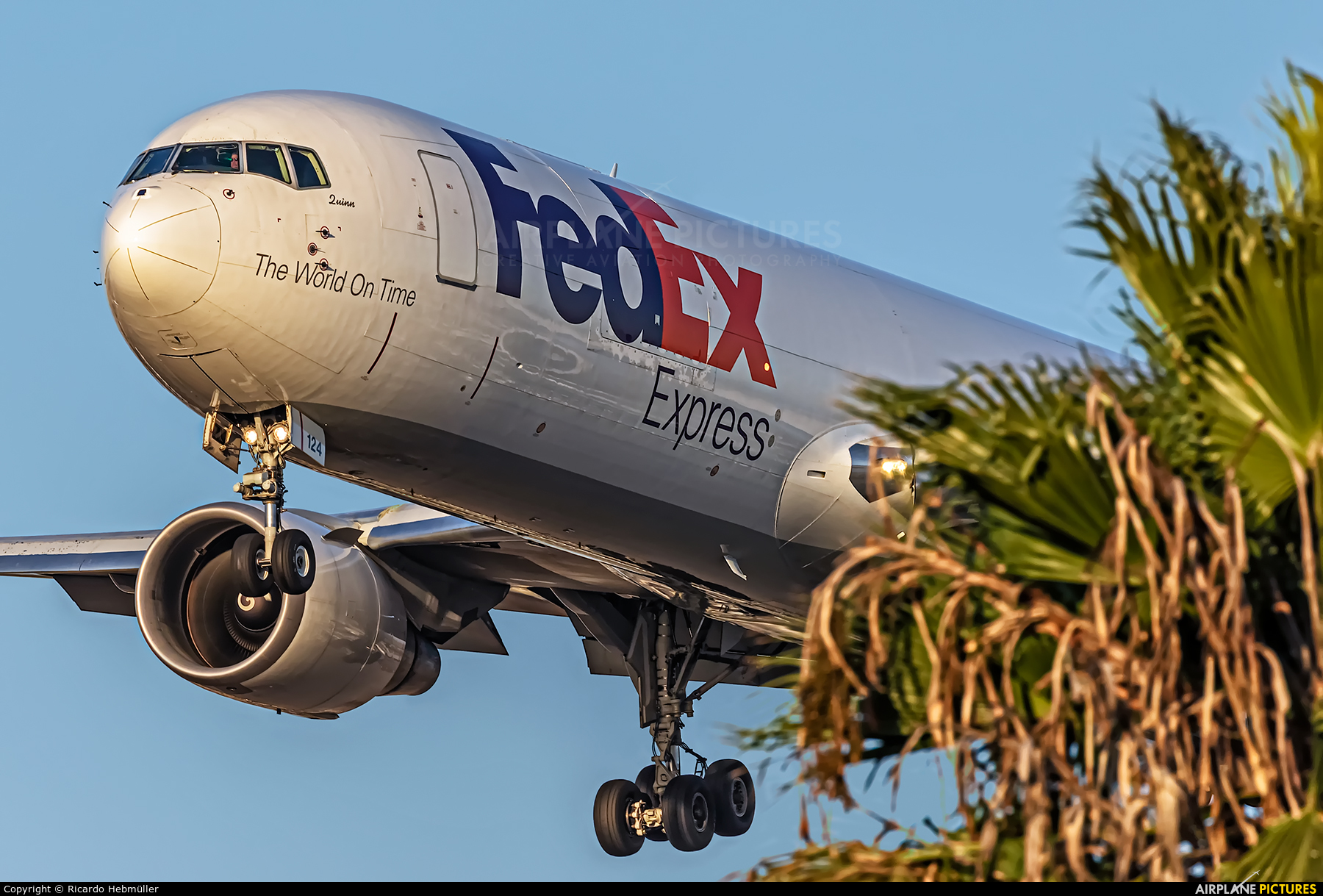FedEx Federal Express N124FE aircraft at Los Angeles Intl