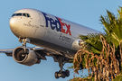 FedEx Federal Express Boeing 767-300F N124FE at Los Angeles Intl airport