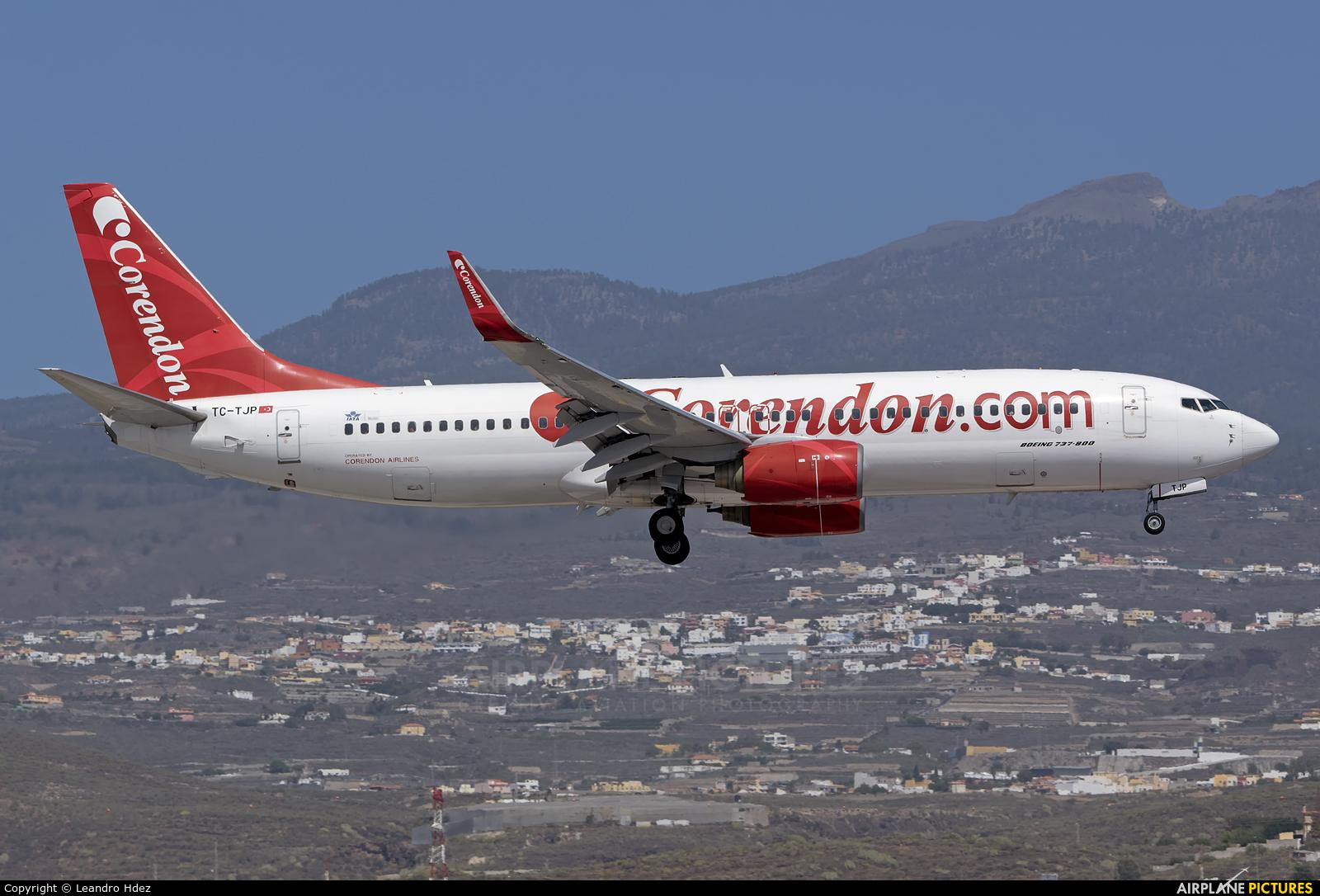 Corendon Airlines TC-TJP aircraft at Aeropuerto de Gran Canaria