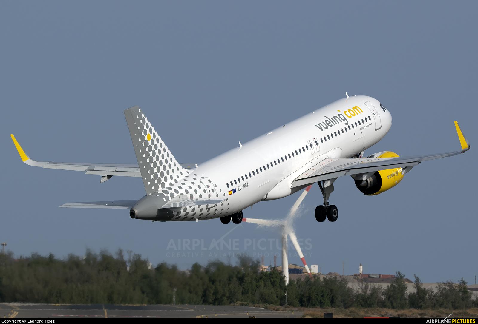 Vueling Airlines EC-NBA aircraft at Aeropuerto de Gran Canaria