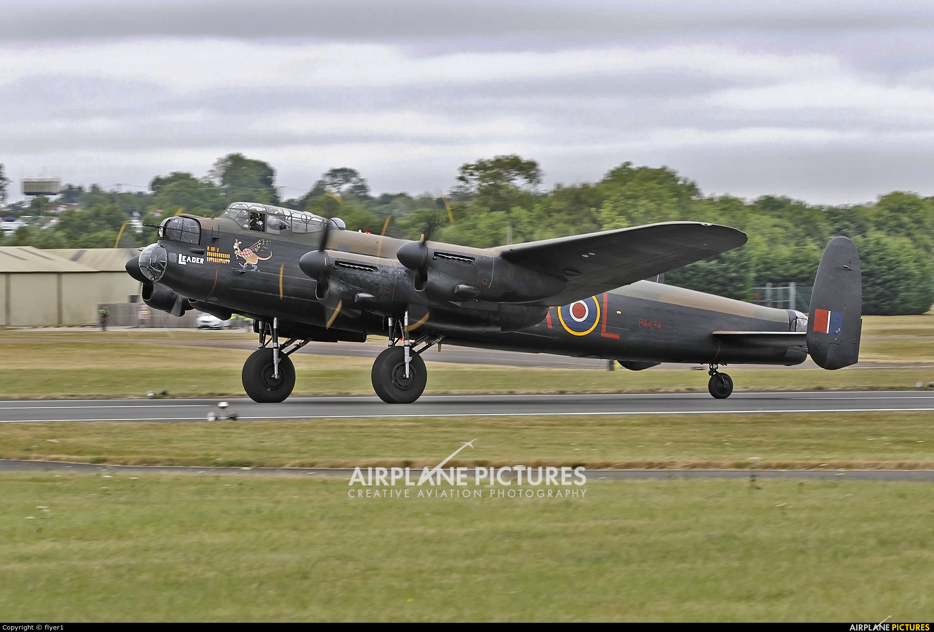 "Royal Air Force ""Battle of Britain Memorial Flight"" PA474 aircraft at Fairford"