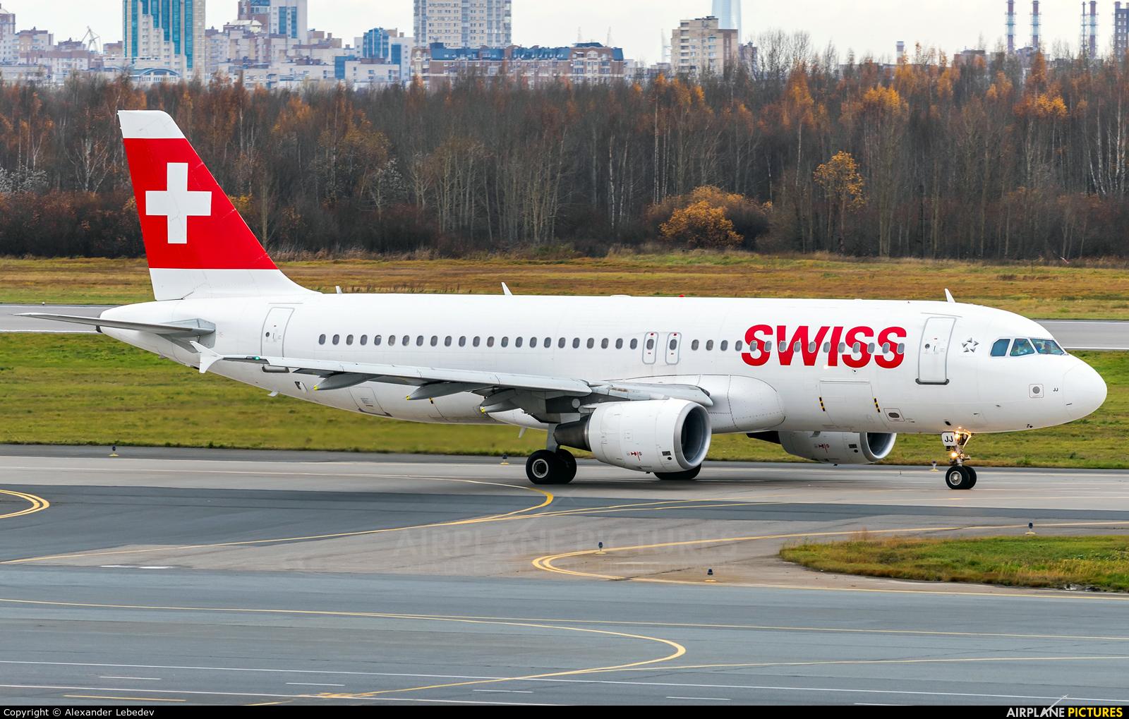 Swiss HB-IJJ aircraft at St. Petersburg - Pulkovo